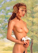 Natalie Portman as Padme Amidala - most beloved queen of Naboo... with tits like hers it is not surprising at all!